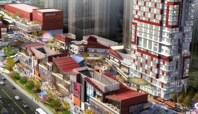 front将透明屋顶抬升一层与屋顶花园结合,大大提升了商业中庭的环境