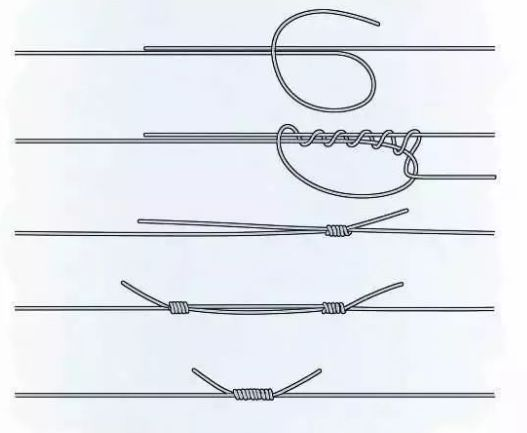 钓鱼鱼线绑法,鱼钩打结教学图解