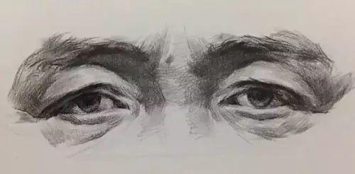 2,清楚眼睛的结构后,开始说眼睛的明暗关系(如下图▼),眉毛下面会讲