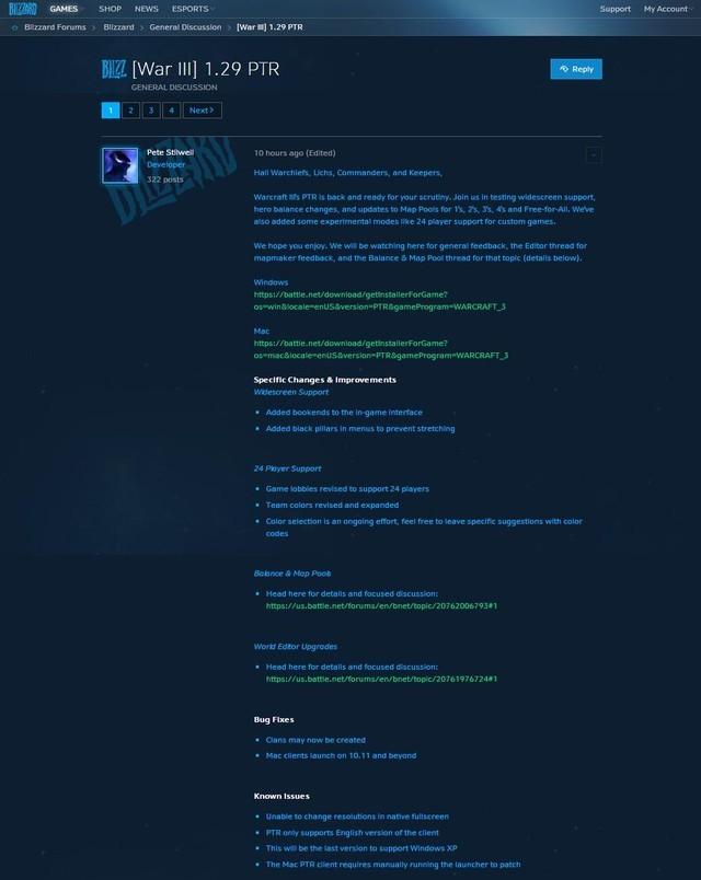 魔兽争霸3发布1.29版本更新 支持宽屏显示