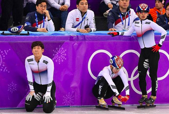 韩国短道男队自己摔倒无缘奖牌,队员:输在运气,北京冬奥誓夺金