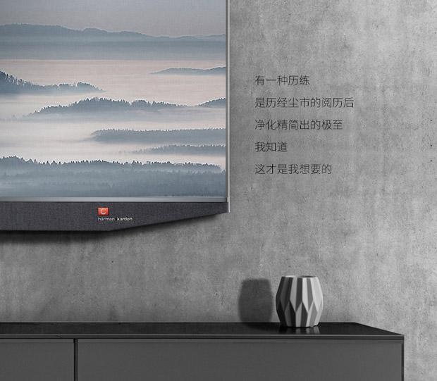 电视采用哈曼卡顿前置音响,配备4单元独立扬声器