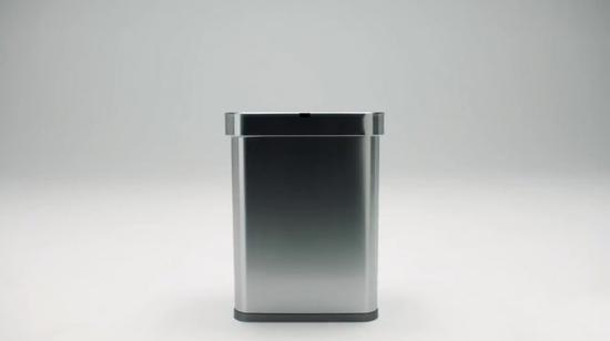 新版本垃圾桶容量达到58L,内置垃圾袋收纳箱