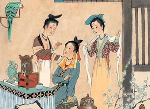 戴人胜 人胜是一种头饰,又叫彩胜,华胜,从晋朝开始有剪彩为花,剪彩
