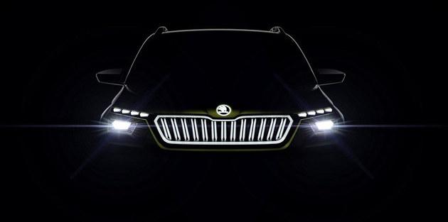 斯柯达VISION X概念车预告图 搭混合动力