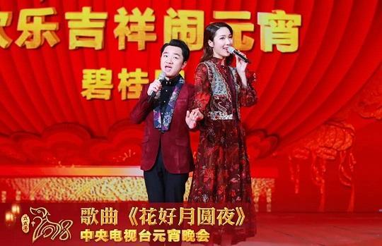 王祖蓝和娇妻合体上央视元宵晚会 夫唱妇随很恩爱