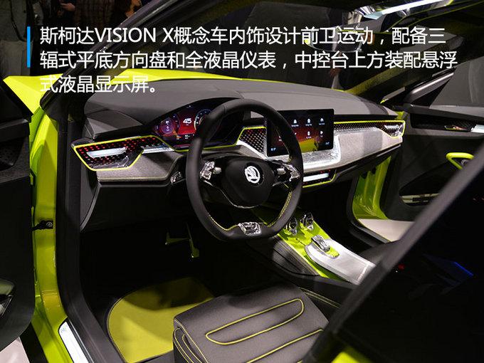 酷炫又环保的小型SUV 斯柯达VISION X概念车首发-图4