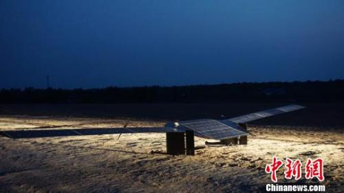 资料图:西工大自主研发的太阳能Wi-Fi无人机。 西工大供图 摄