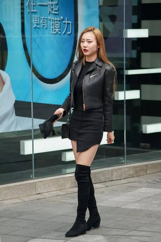 街拍:穿长筒靴的美腿性感美女男人,超赞!达人金发性感中国秀图片