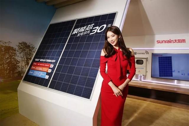 AWE2018 林志玲亮相太阳雨 拟出演《太阳能一切》纪录片