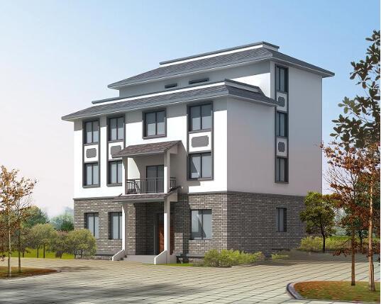 中式农村四层住宅房屋设计图 四层设置大露台方便晒衣