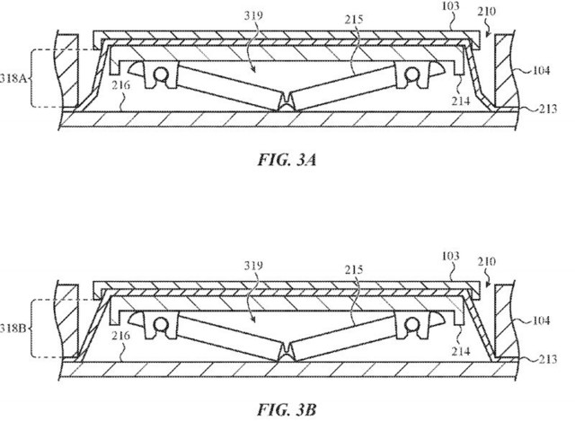 苹果新专利:键盘密封可吹气防尘防面包屑