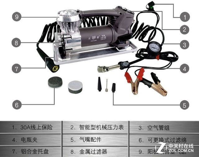 产品尺寸规格 编辑点评:NFA67064应急启动电源的长宽高约为33x17x35CM,净重8.5KG,独特的把手设计便于携带与存储;其采用的免维护铅酸电瓶,电瓶容量22AH,输出功率达400W。67064应急启动电源外壳采用黑色ABS材料,对称式的设计简洁时尚,多重功能满足多种用户使用需求,更符合当下的用车使用场景。 产品型号:登路普应急电源 产品特点:应急启动、照明、充气、USB插口 忘记关闭车灯、冬天储电能力不足、车辆闲置太久等情况,都会引起车辆无法正常启动,下面为大家推荐一款汽车应急启动电源登路普