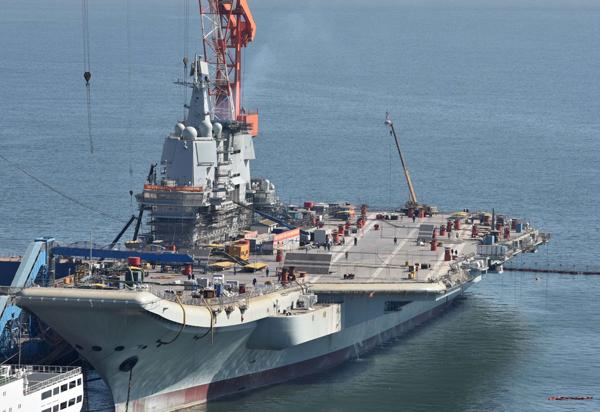 首艘国产航母脚手架拆除试航在即,建成仅用2年