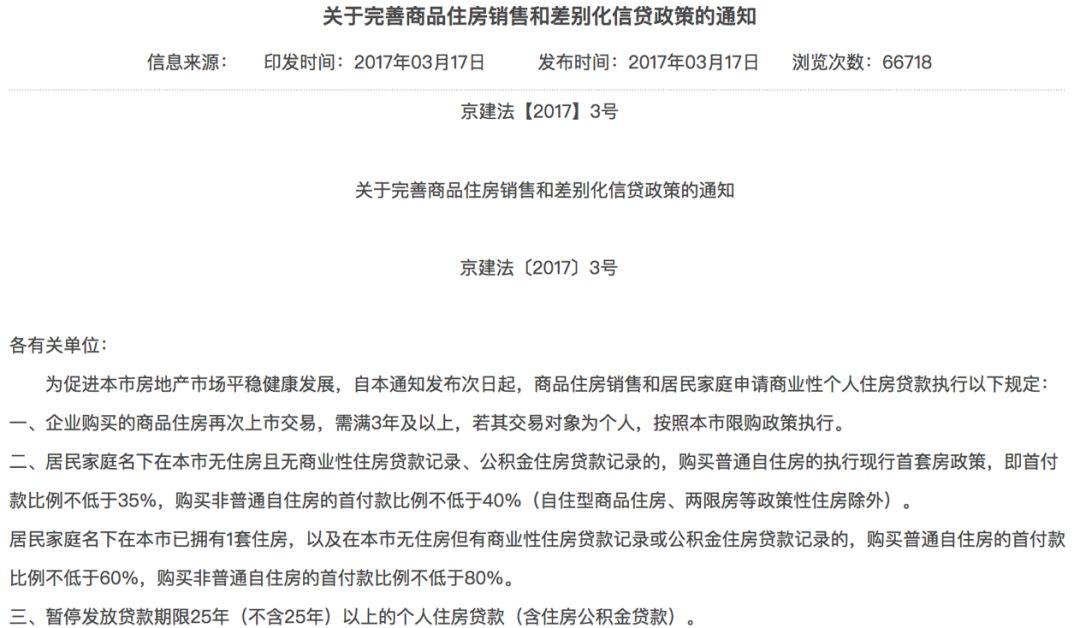 北京楼市最强调控一年后:700万不卖的房降到595万