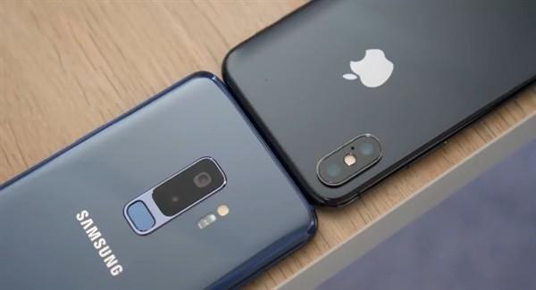 三星S9+和iPhone X(图源网)