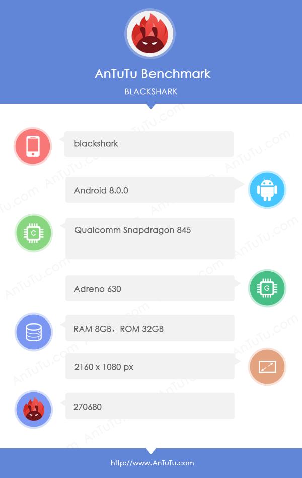 小米黑鲨现身GeekBench  骁龙845+8GB