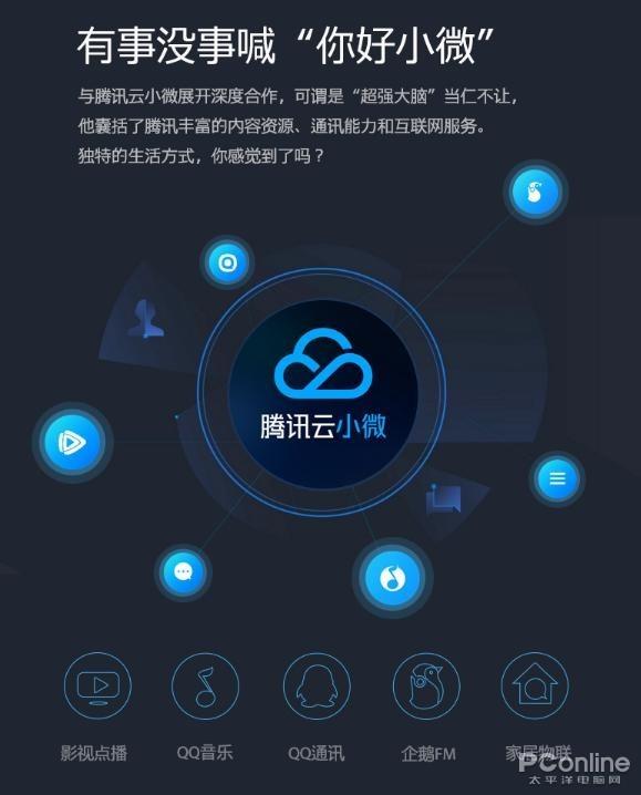 搭载腾讯云小微智能服务平台