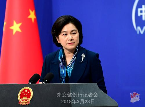 外交部新闻发言人华春莹。图片来源:外交部网站。