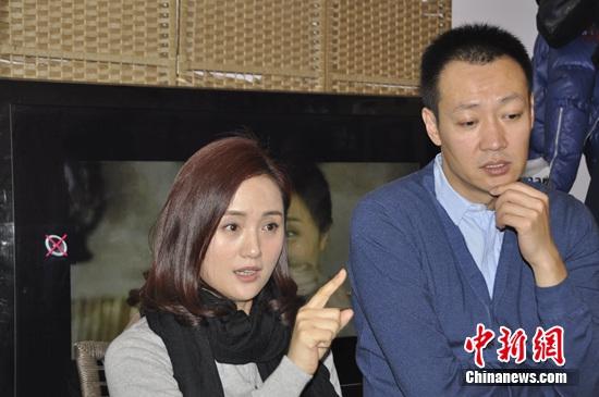 资料图:朱媛媛和辛柏青 李萌 摄