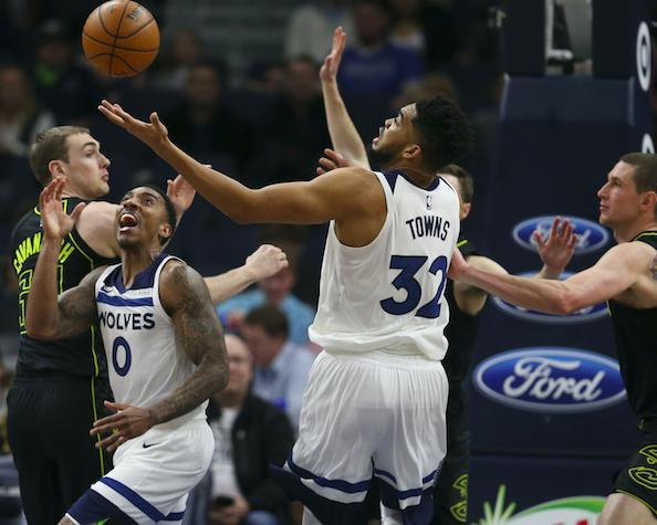 唐斯56分15篮板4助攻创生涯新高 森林狼主场胜老鹰