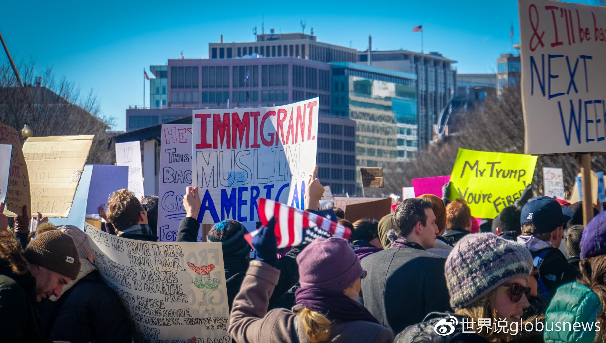 2017年2月,华盛顿特区,反穆斯林禁令游行示威来源:Ted Eytan