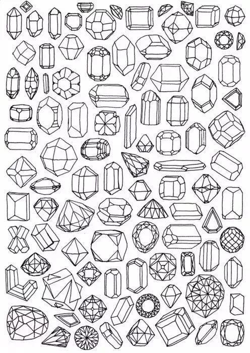 宝石画法步骤图片