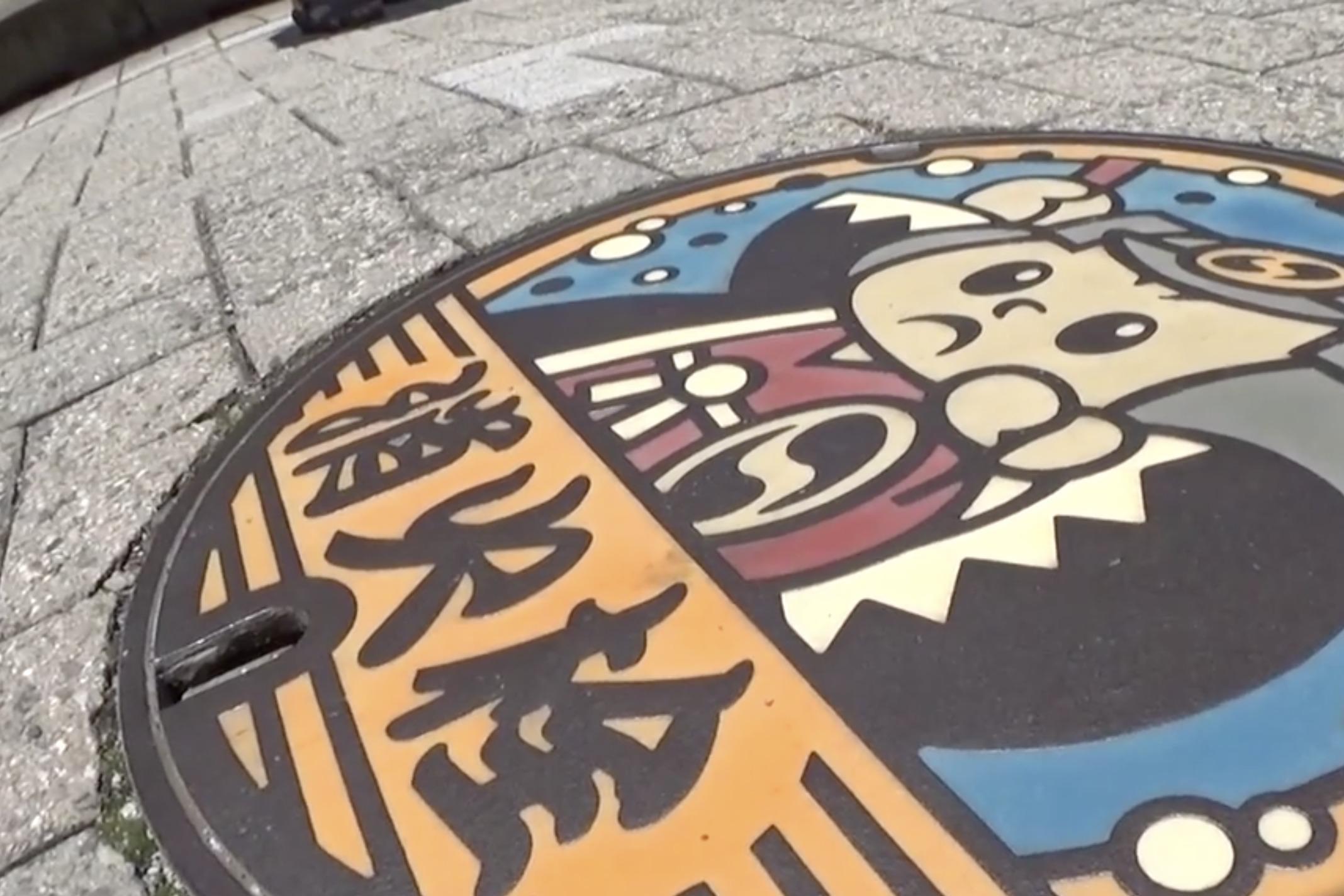 孔盖也可以做到这么精美,走进日本,欣赏不同的地域文化!