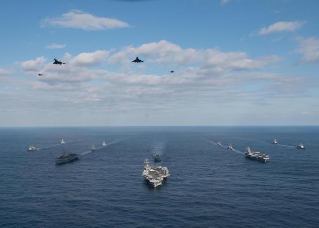 中国40艘战舰VS美军10艘,西太海上力量谁更强?