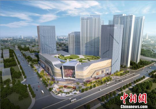 图为,武汉国际文化商业中心A区效果图 黄璜 摄