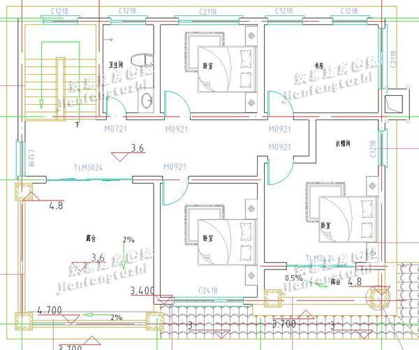 5套农村别墅设计效果图施工图