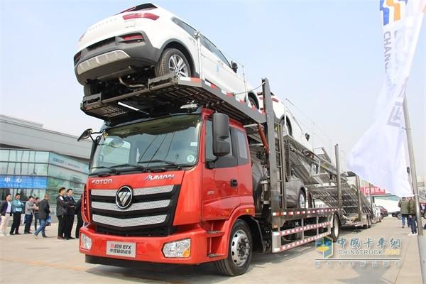 新欧曼ETX中置轴轿运车
