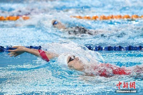4月13日,2018年全国游泳冠军赛暨亚运会选拔赛在山西太原开幕,包括孙杨、徐嘉余、傅园慧等泳坛名将悉数参赛,竞争亚运会参赛席位。 武俊杰摄