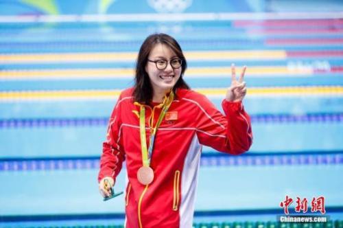 2016里约奥运女子100米仰泳决赛上,中国选手傅园慧以58秒76夺得铜牌。 杜洋摄
