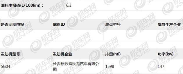 DS 5LS 45THP申報資訊曝光 外觀小改
