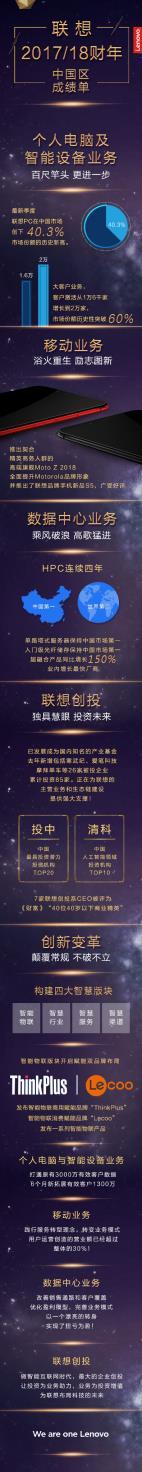 """联想吹响""""全面智能化""""号角 杨元庆2018要打响""""四大战役""""!"""