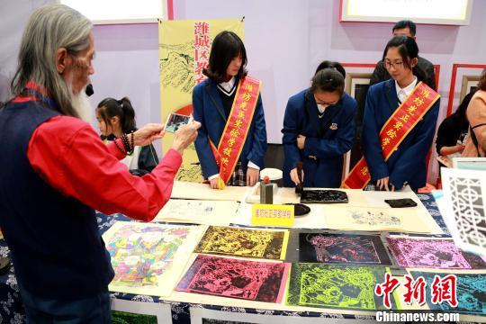 第11届潍坊(中国)文描写幕古今小学书画名家夏天古诗展开顶级的图片