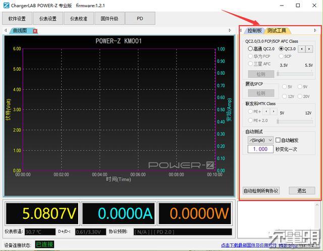 ChargerLAB POWER-Z KM001系列测试仪V1.2.1升级攻略