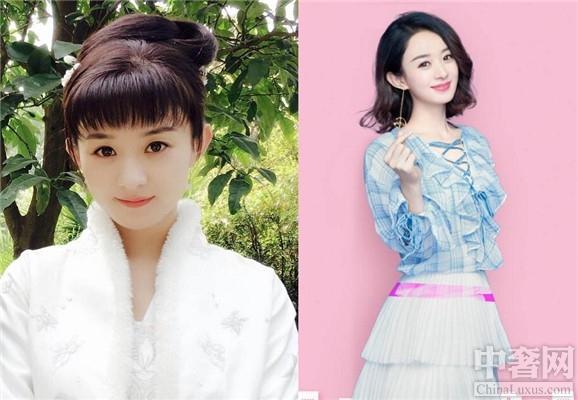 晒出度假中的赵丽颖,她当时梳着丸子头,瞪着大大的眼睛真是太漂亮了.