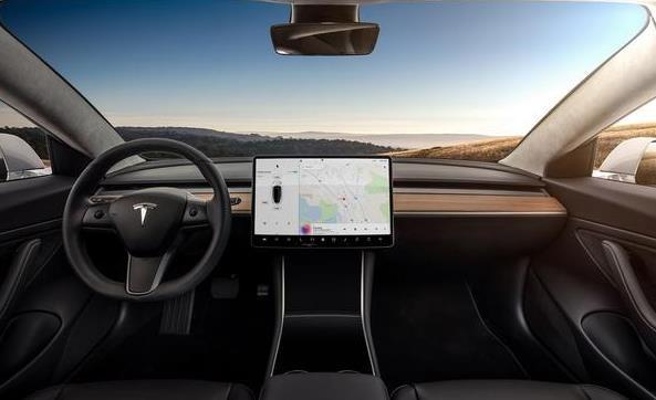 特斯拉Model 3内饰图