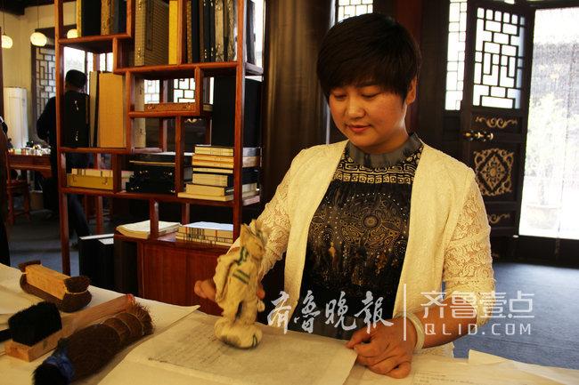"""无棣古城""""女管家""""沈立静:枣木板重现雕版印刷术"""