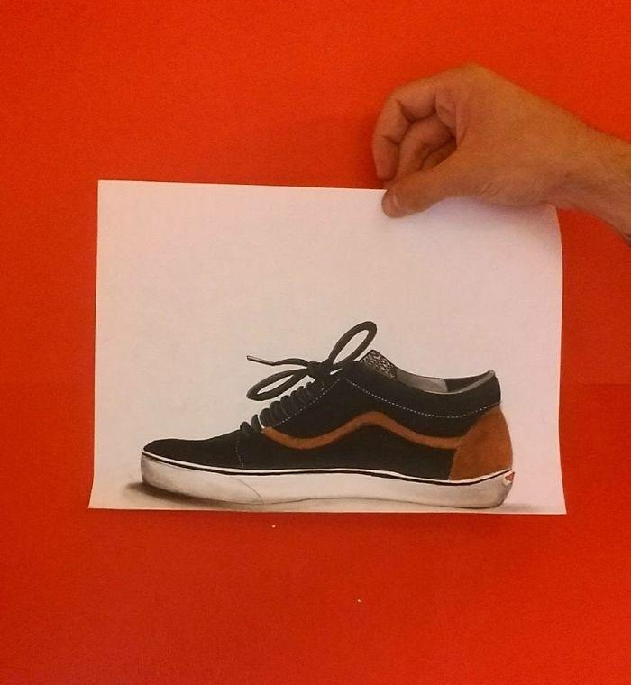 """手绘3d立体画,仿佛从纸上""""跳""""出来"""