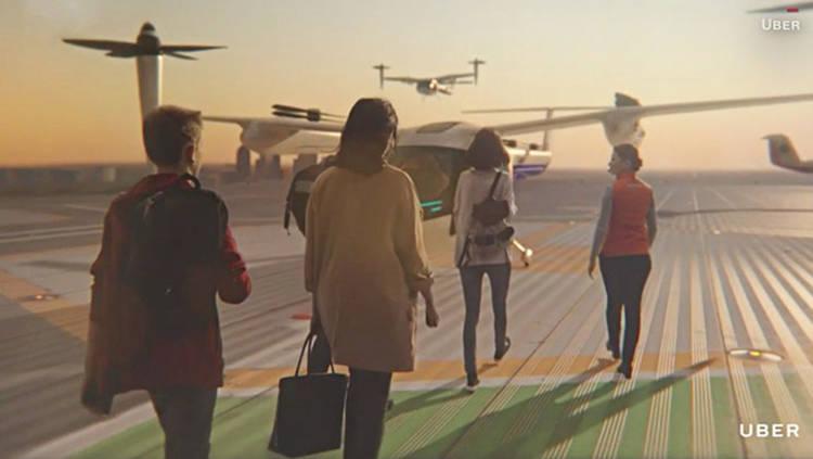 Uber研发低噪音空中出租车 电力控制起飞/降落