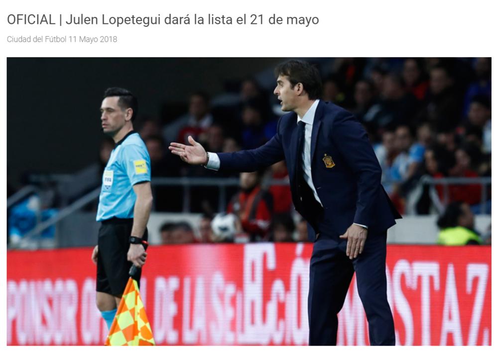 官方:西班牙将在5月21日公布世界杯大名单