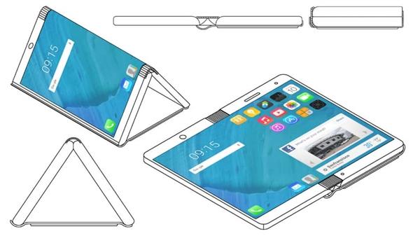 摩托罗拉可折叠手机专利曝光 iOS图标什么鬼?