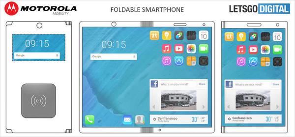 摩托罗拉获新专利 折叠手机秒变平板  甚至可以提供无线充电