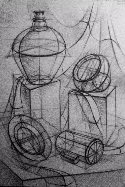 ▼ 【2】 · 几何体的基础画法 · 几何体是素描中的基础 圆柱体是