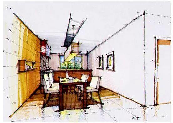 餐厅手绘设计效果图大全 宴会厅,中餐厅,西餐厅,就餐廊, 家庭餐厅,咖