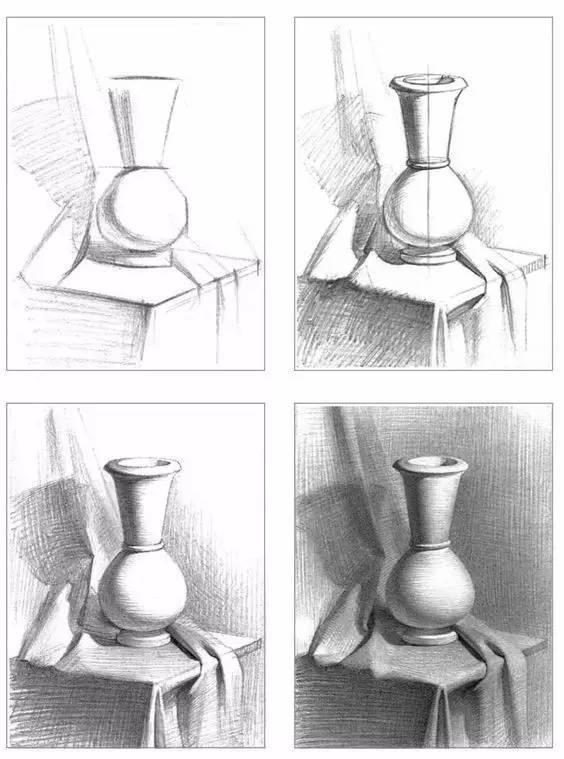 素描中的基础 圆柱体是嘴巴的缩影 球体是眼球的缩影 头部是正方体的