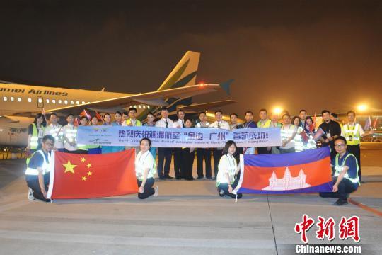 澜湄航空开通广州直飞金边航线 白云机场供图